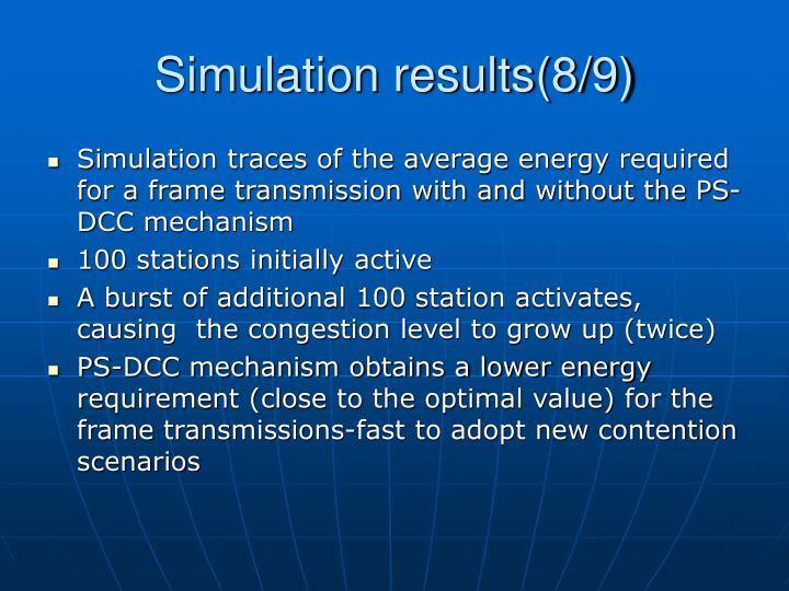 Simulation results(8/9)