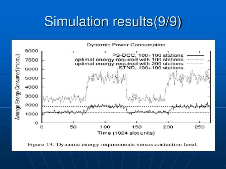 Simulation results(9/9)