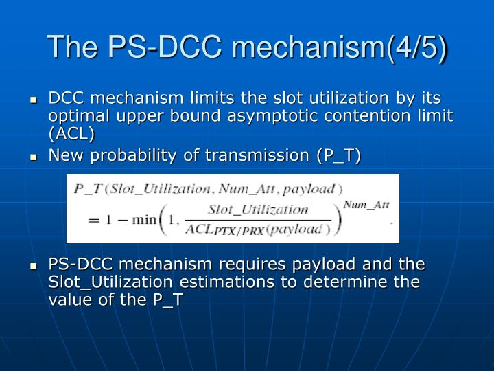 The PS-DCC mechanism(4/5)