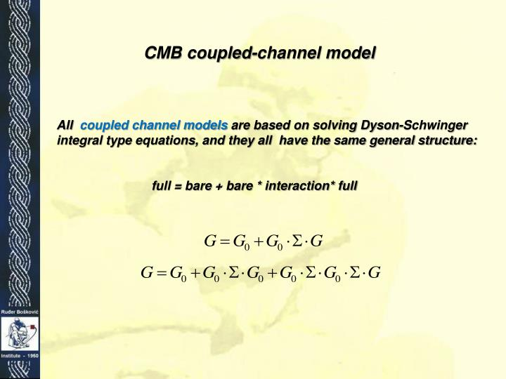 CMB coupled-channel model