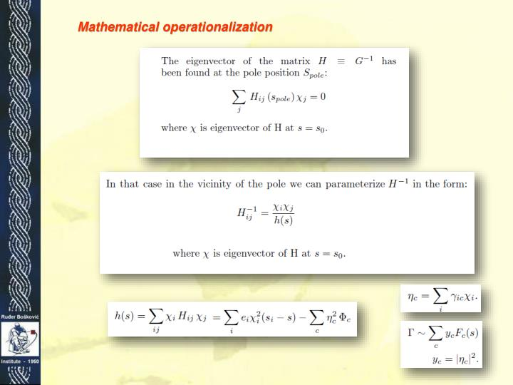 Mathematical operationalization