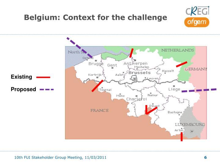 Belgium: Context for the challenge