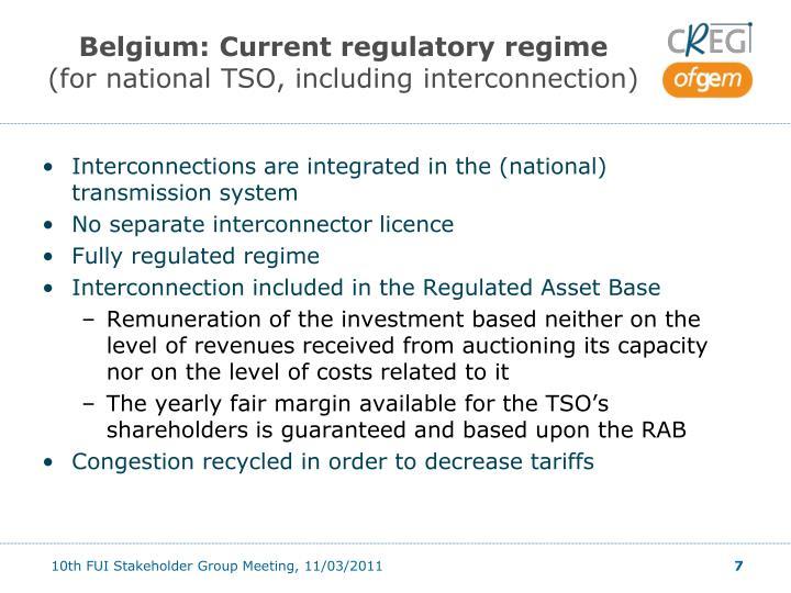 Belgium: Current regulatory regime