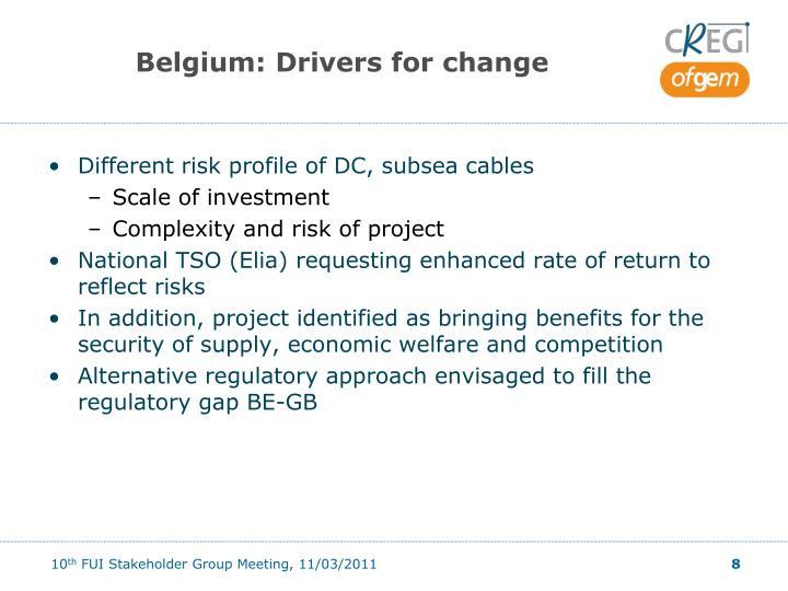 Belgium: Drivers for change