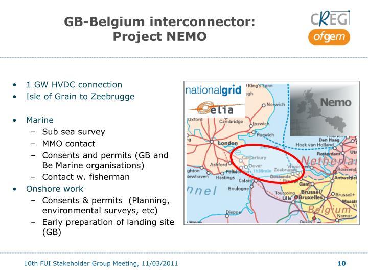 GB-Belgium interconnector: