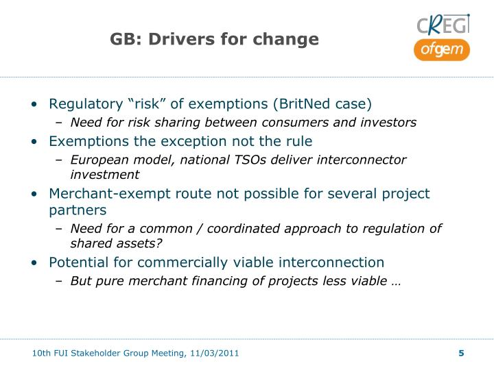 GB: Drivers for change
