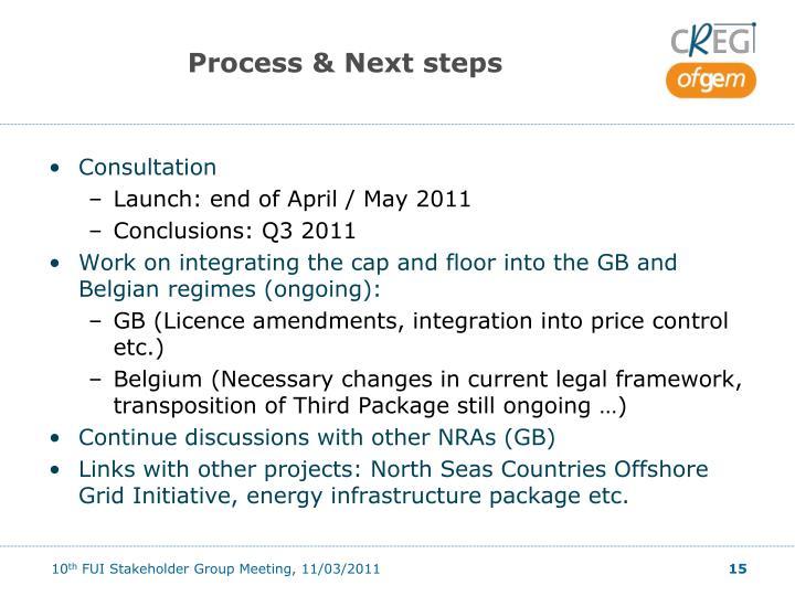 Process & Next steps