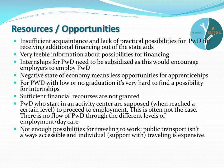 Resources / Opportunities