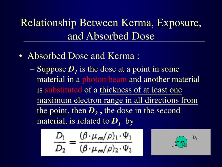 Relationship Between Kerma, Exposure, and Absorbed Dose