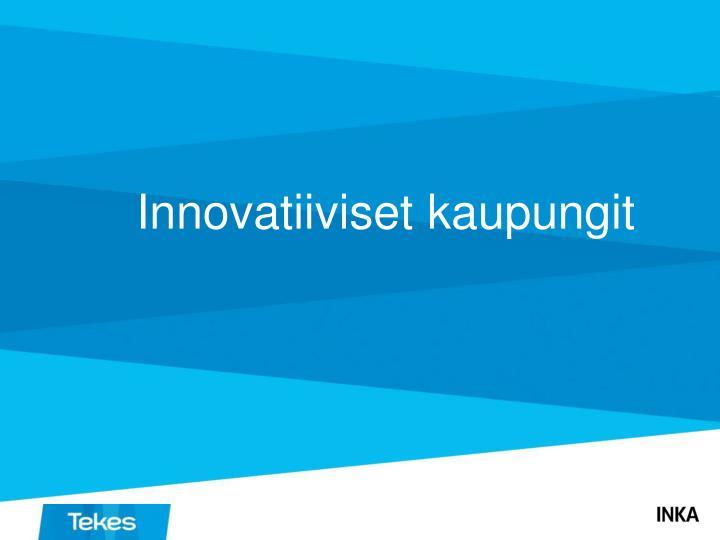 Innovatiiviset kaupungit
