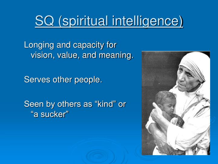SQ (spiritual intelligence)