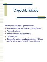 digestibilidade