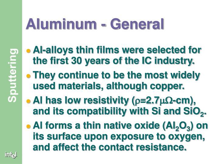 Aluminum - General