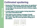 collimated sputtering