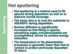 hot sputtering