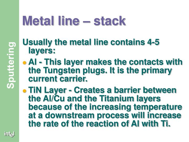 Metal line – stack