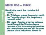 metal line stack