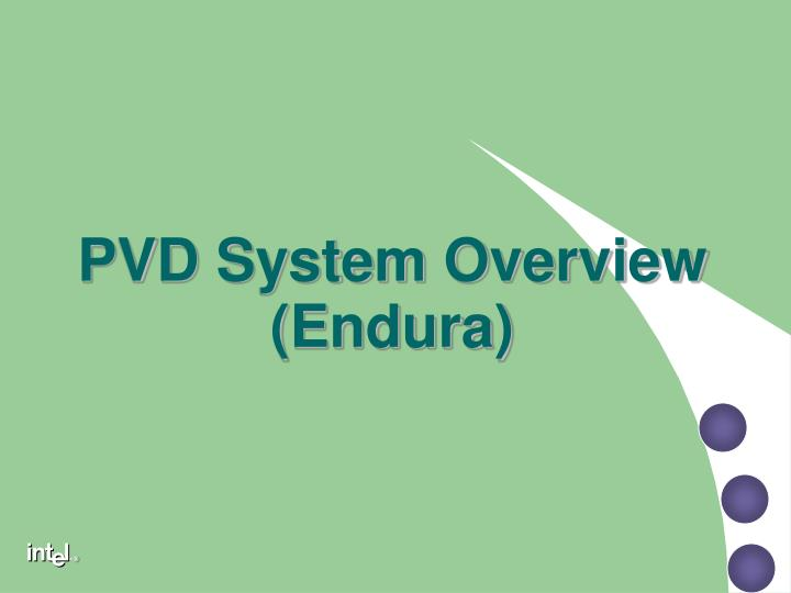 PVD System Overview (Endura)