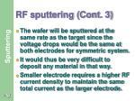 rf sputtering cont 3