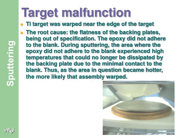 Target malfunction