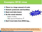 example rfid virus
