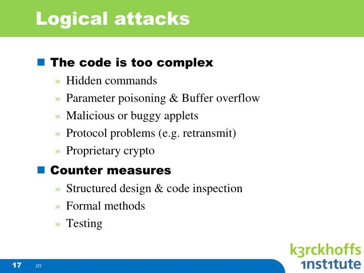 Logical attacks