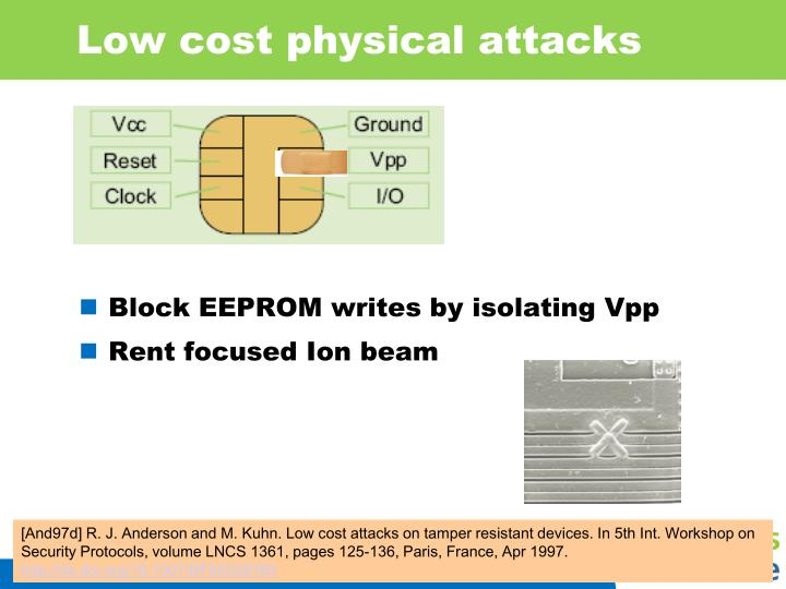 Low cost physical attacks