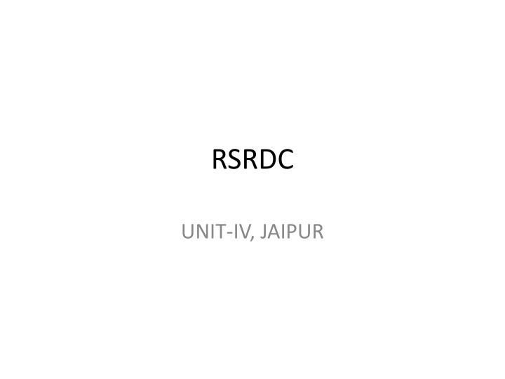 RSRDC