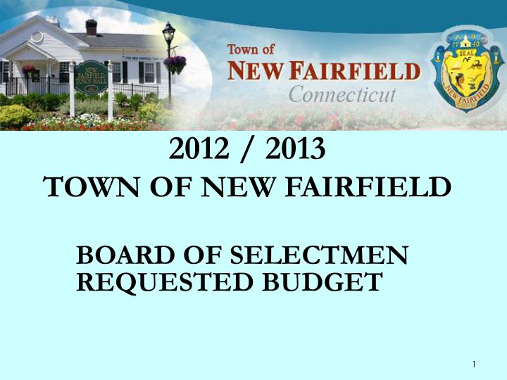 2012 2013 town of new fairfield
