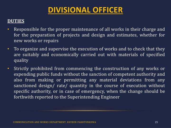 DIVISIONAL OFFICER