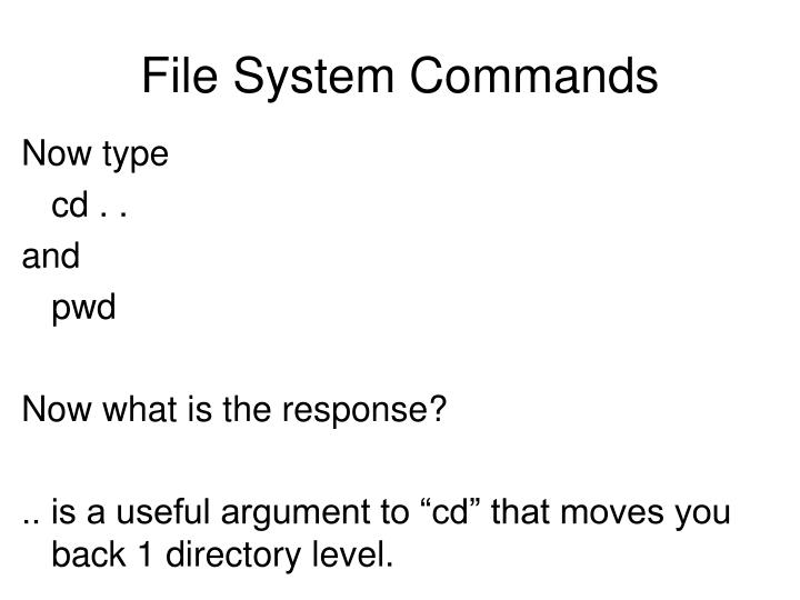 File System Commands