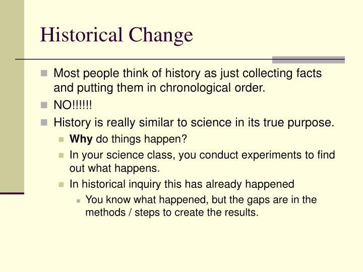Historical Change