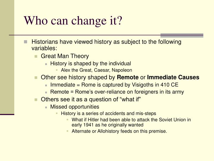 Who can change it?