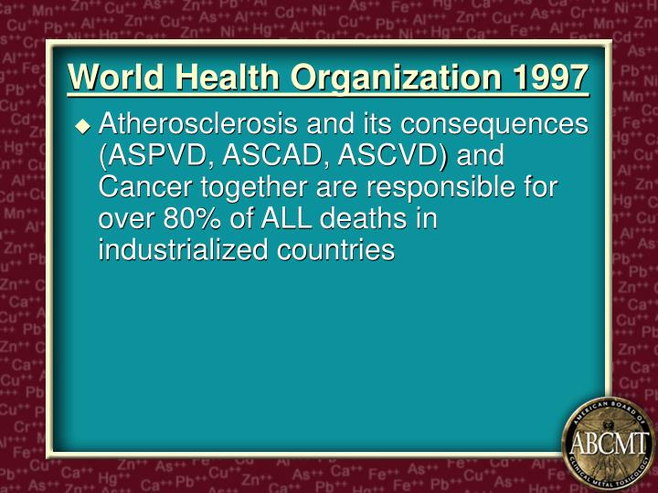 World Health Organization 1997