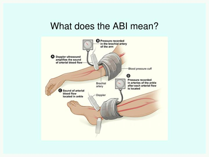What does the ABI mean?