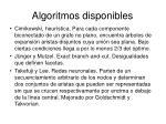 algoritmos disponibles1