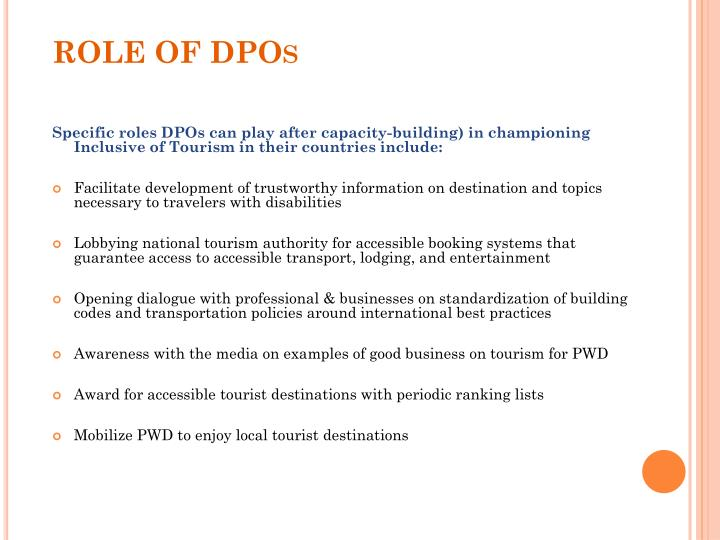 ROLE OF DPOs