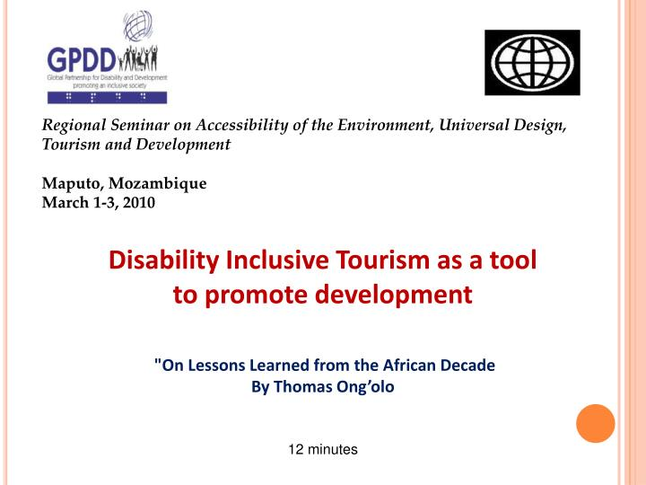 Regional Seminar on Accessibility of the Environment, Universal Design,