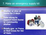 7 make an emergency supply kit