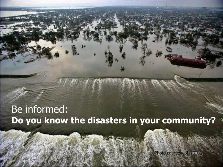 Be informed: