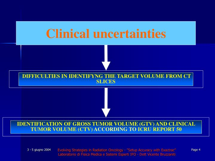 DIFFICULTIES IN IDENTIFYNG THE TARGET VOLUME FROM CT SLICES