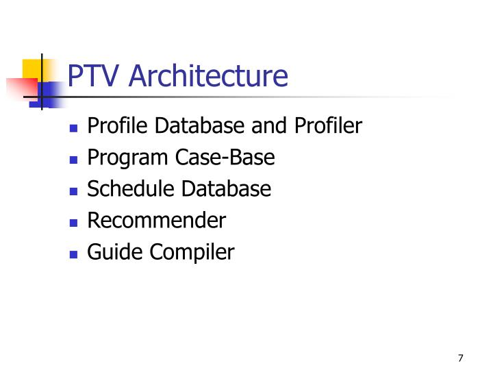 Profile Database and Profiler
