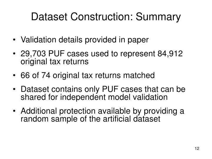 Dataset Construction: Summary