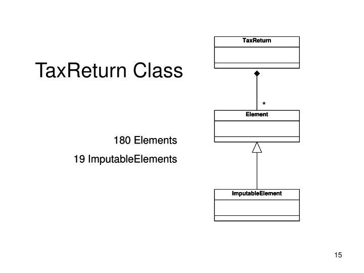 TaxReturn Class