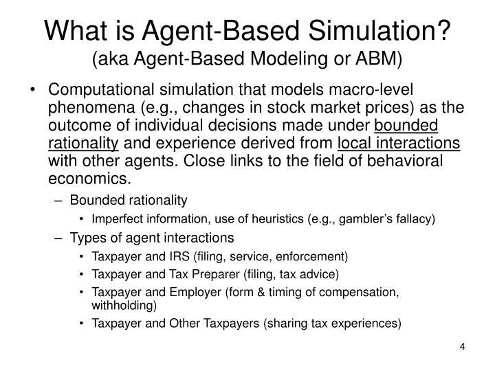 What is Agent-Based Simulation?