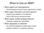 when to use an abm