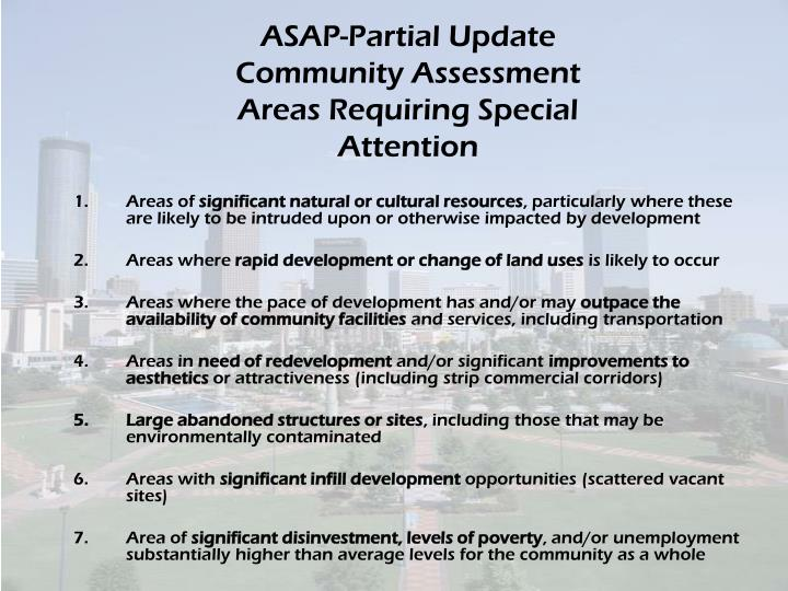 ASAP-Partial Update