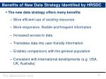 benefits of new data strategy identified by hrsdc