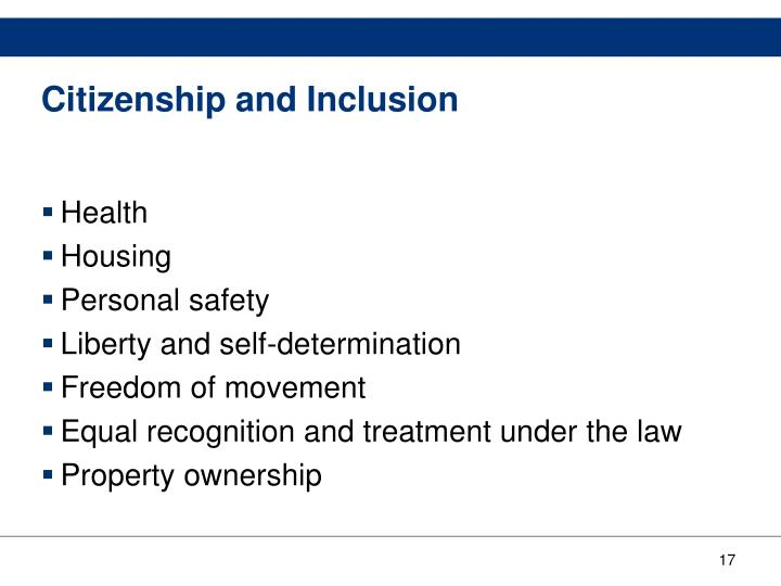 Citizenship and Inclusion