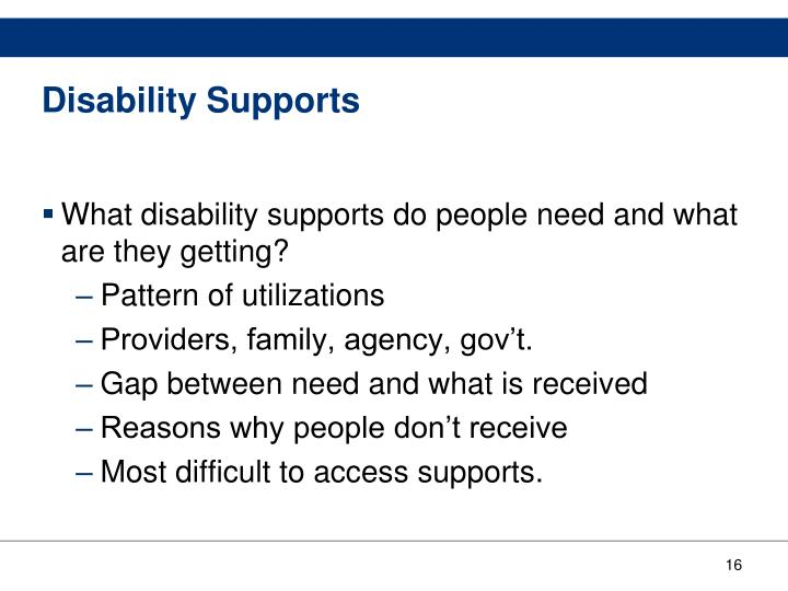 Disability Supports